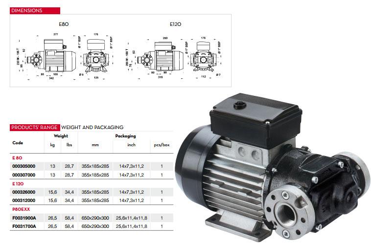 Diesel Engine Piusi – italy E120