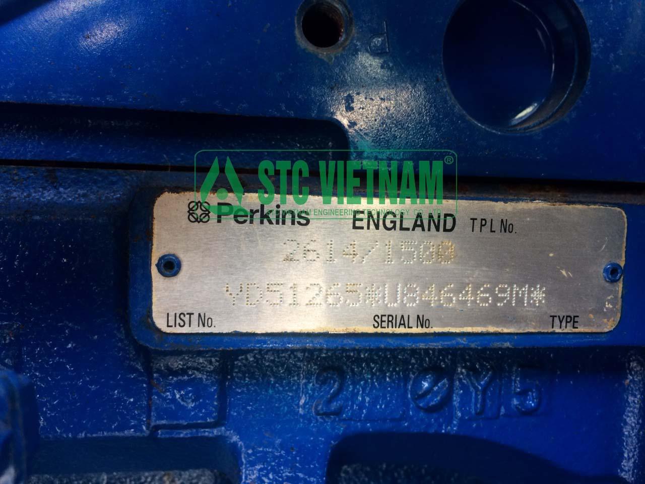 Perkins 165 Kva ( Đã qua sử dụng)