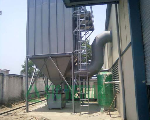 Dust collection system for brick kilns – timber workshop