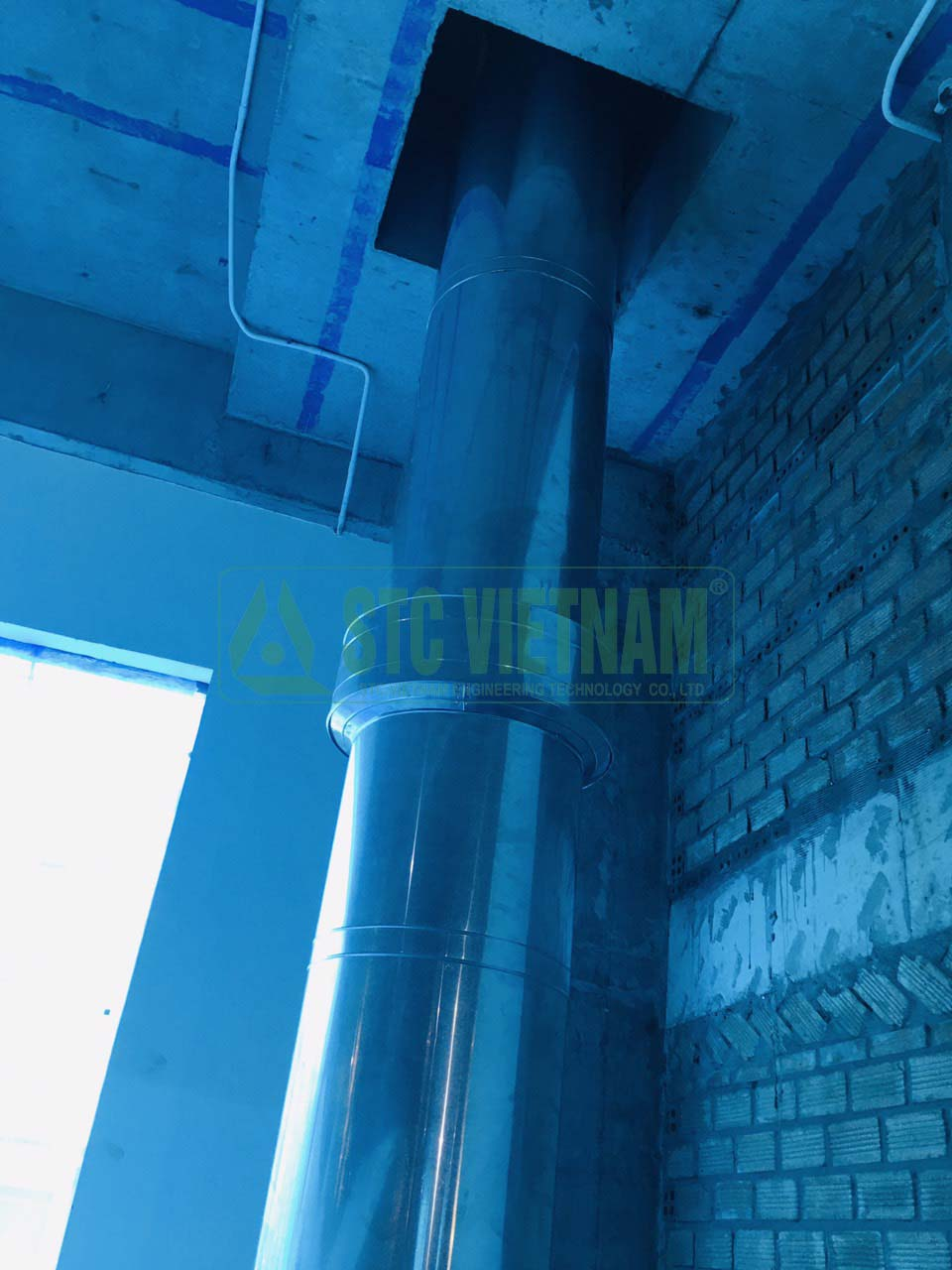 Thermal insulation chimney D400, stainless steel